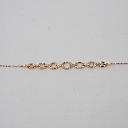 Bracelet motif diamants