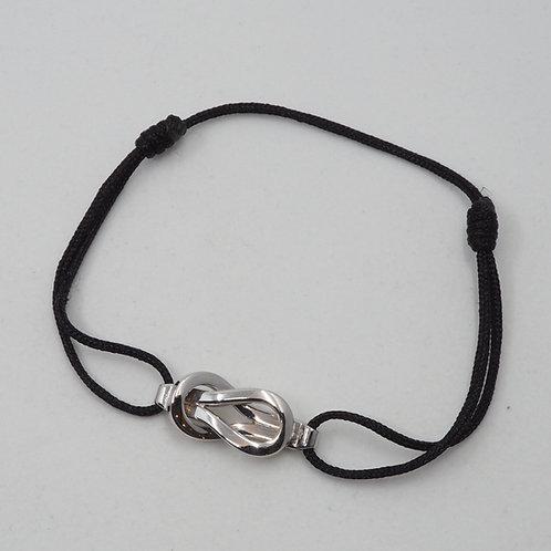 Bracelet motifs entrelacés sur cordon