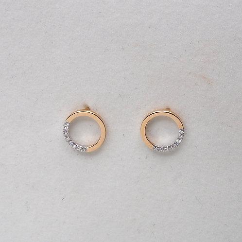 Boucle anneau diamants