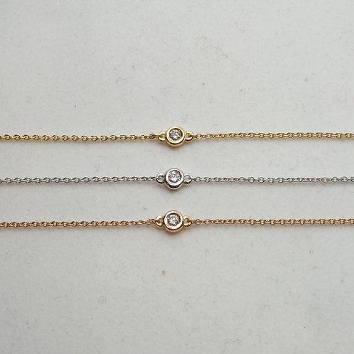 Bracelet diamants sertis clos