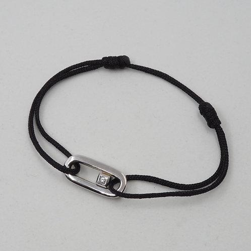 Brcelet cordon motif diamant
