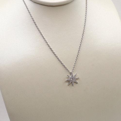 Pendentif diamants étoile