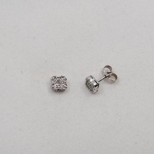Boucles diamants carrées