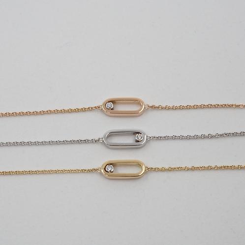 Bracelet motif diamant