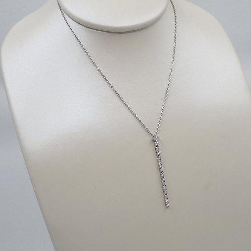 Collier ligne de diamants