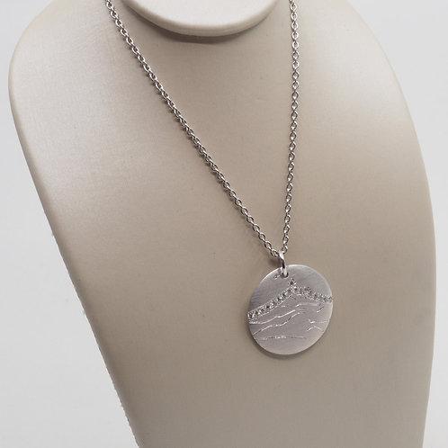 Médaille sainte victoire 17 mm ligne diamants