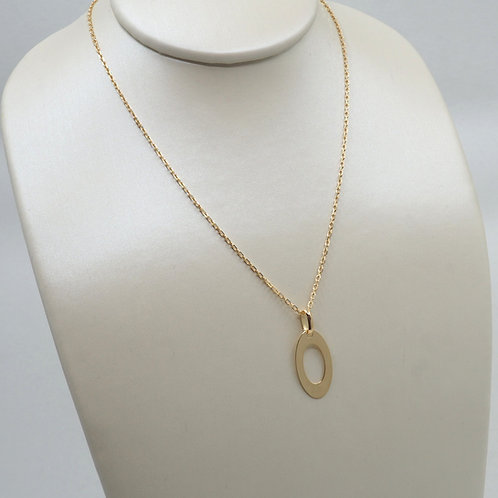 Collier motif oval