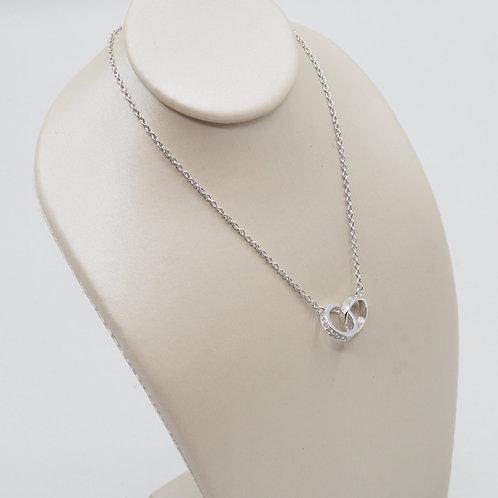 Pendentif motif anneaux entrelacés diamants