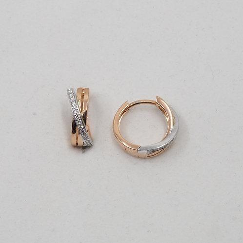 Créoles deux ors et diamants