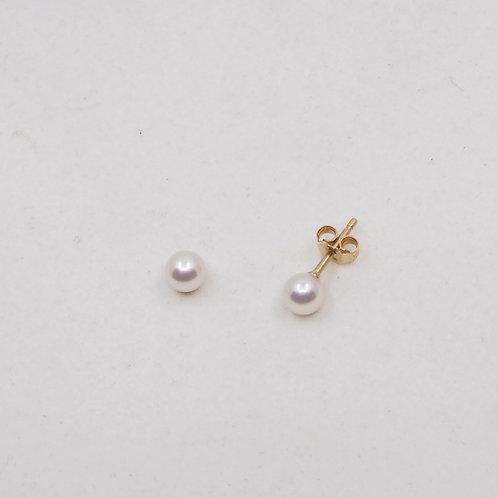 Boucles perles blanches Akoya