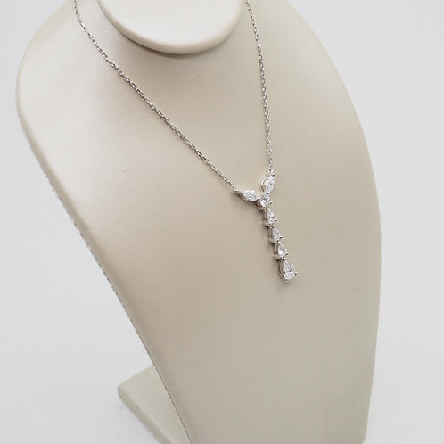 Pendentif diamants poires