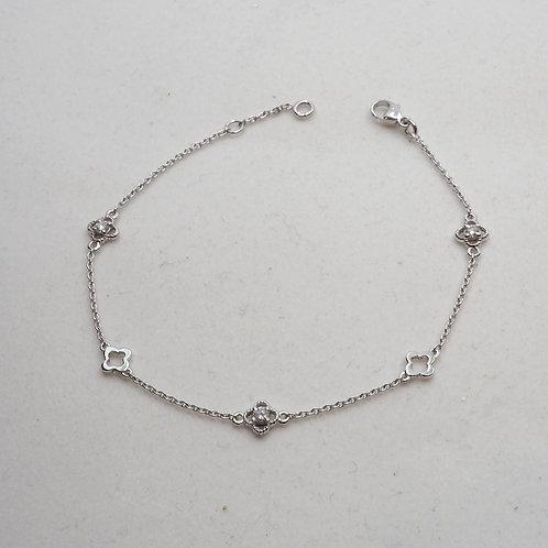 Bracelet trèfles or et diamants