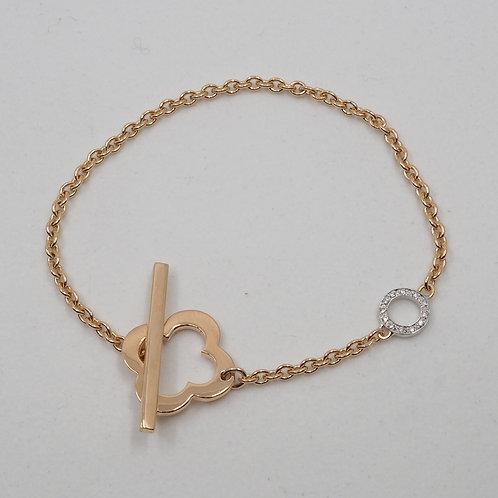 Bracelet motif et diamants
