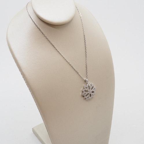 Pendentif fleur diamants