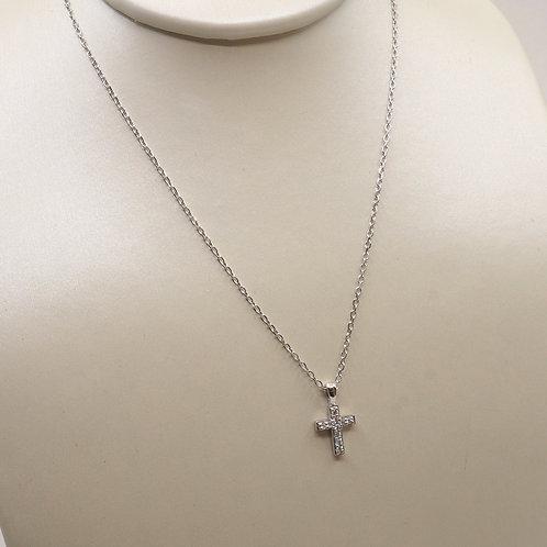 Collier croix diamants