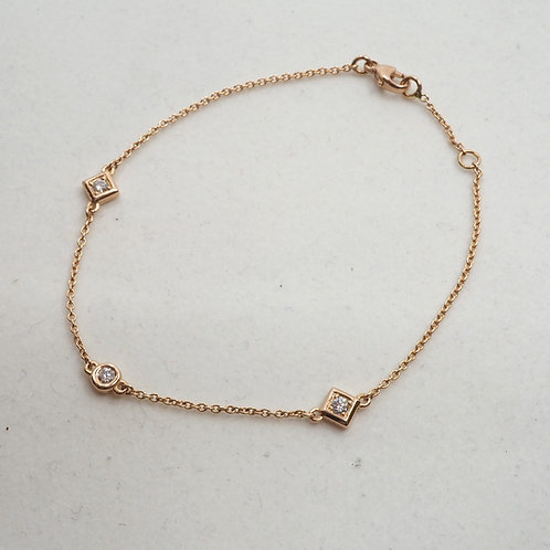 Bracelet diamants formes