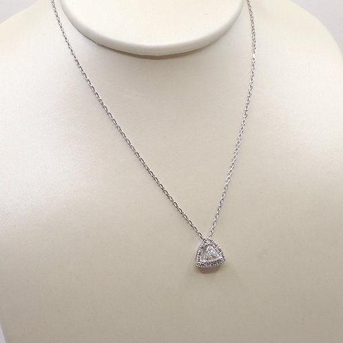Pendentif diamants triangle