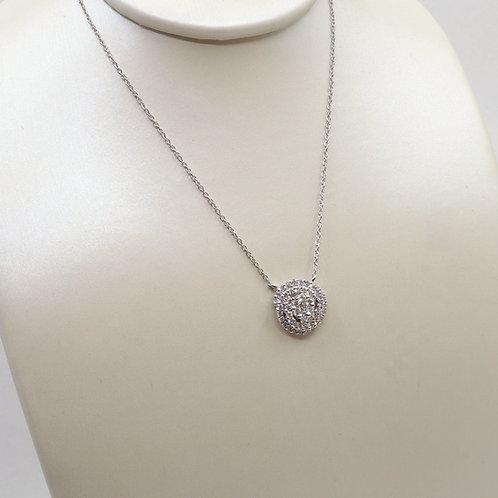 Pendentif diamants tourbillon