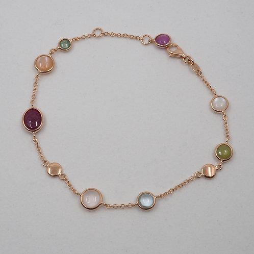 Bracelet pierres fines multicolores