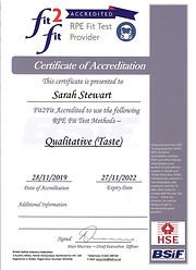 Fit2Fit Qualitative Certificate Sarah St