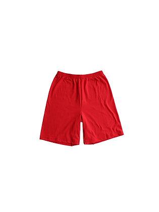 Red-Orange Up-Cycled Shorts