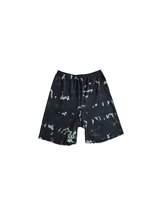 Black & Mint Tie Dye Up-Cycled Shorts