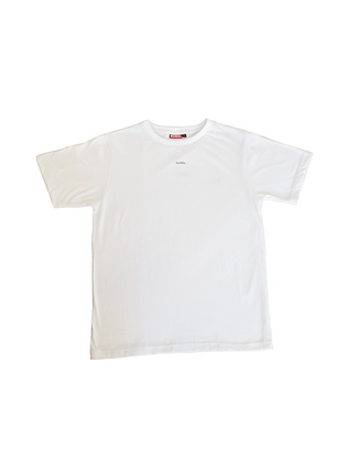 "White ""humble."" T-shirt"