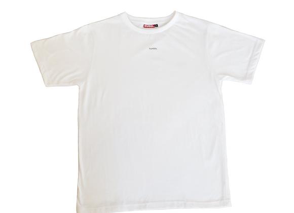 "White ""humble."" T-shirt"