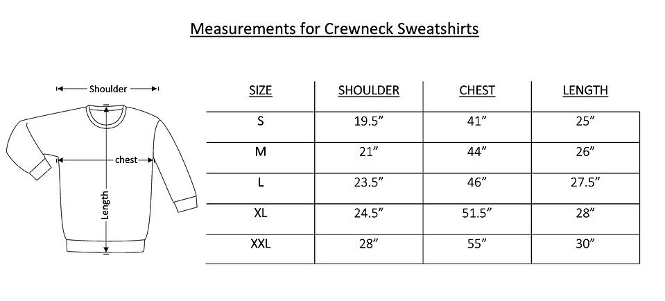 Crewneck sweatshirt size chart image.png