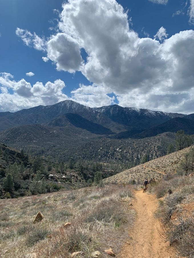 Trail near site