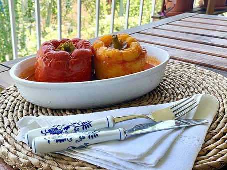 Vegetales rellenos, una forma divertida de servir la verdura