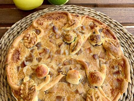 Tarta campesina de manzana, ¿cómo decorarla?