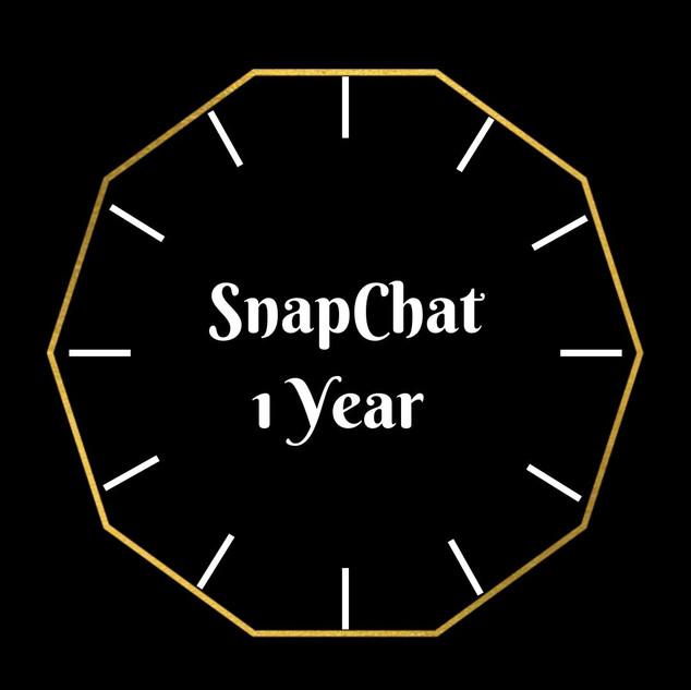 Snapchat 1 Year