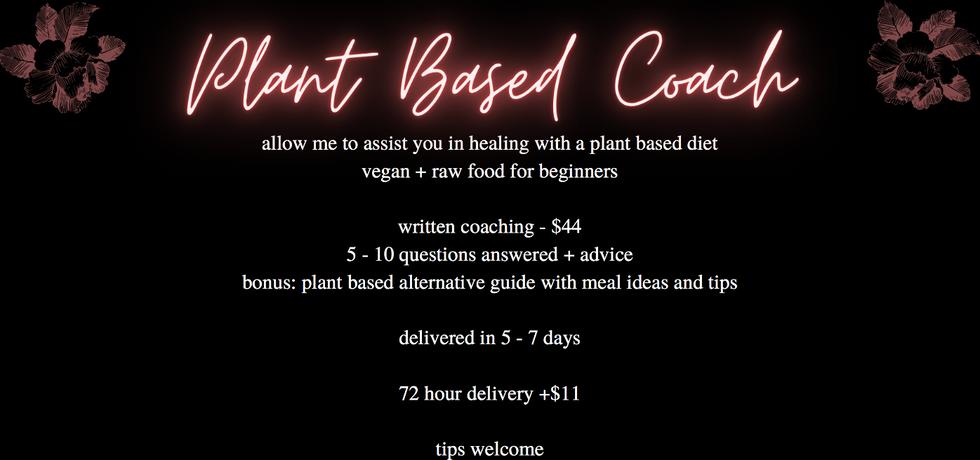 Plant Based Coach