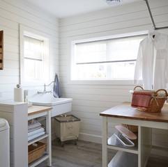 Fresh laundry room