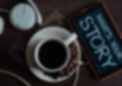 top-view-photo-of-coffee-near-tablet-174