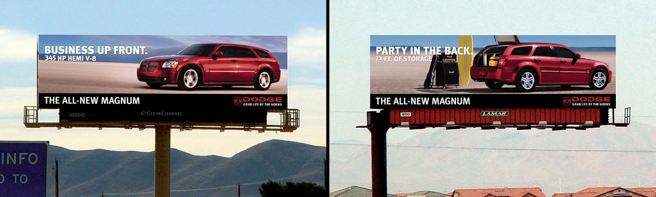 Dodge Magnum Launch Campaign Billboard
