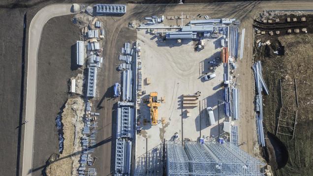 Neubau Bürogebäude mit Hochregallager