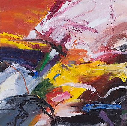 Jupiter's Rage by Murray Prichard Abstract Art, Australian Expressionism Artist, Fine Art Limited Edition Prints