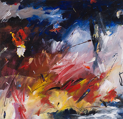 Minutes To Midnight by Murray Prichard Abstract Art, Australian Expressionism Artist, Fine Art Limited Edition Prints