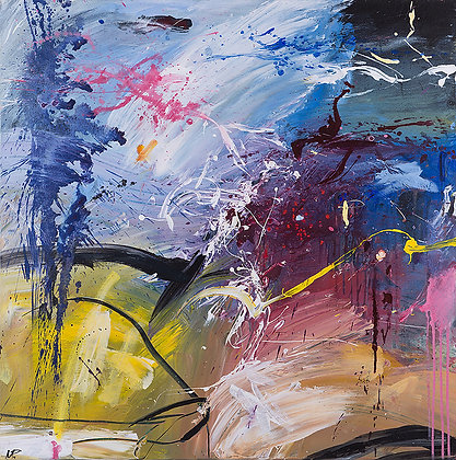 Gaia's Voyage by Murray Prichard Abstract Art, Australian Expressionism Artist, Fine Art Limited Edition Prints