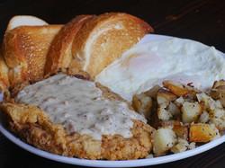 Chicken fried steak bfast