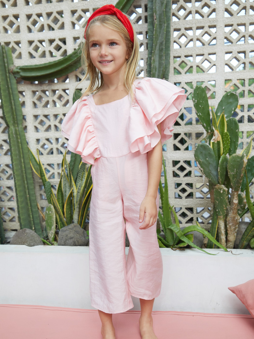 Ava Jumpsuit in Pink