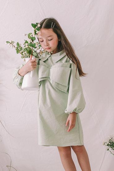 Hani Cotton Dress in Mint