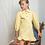 Thumbnail: Denim Frill Dress in Yellow
