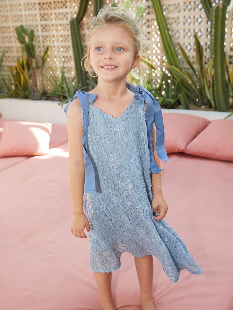 Scarlett Dress in Blue
