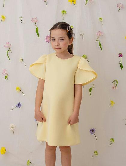 Tulip Dress in Yellow