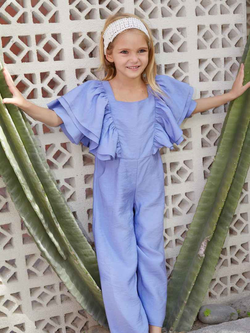 Ava Jumpsuit in Blue