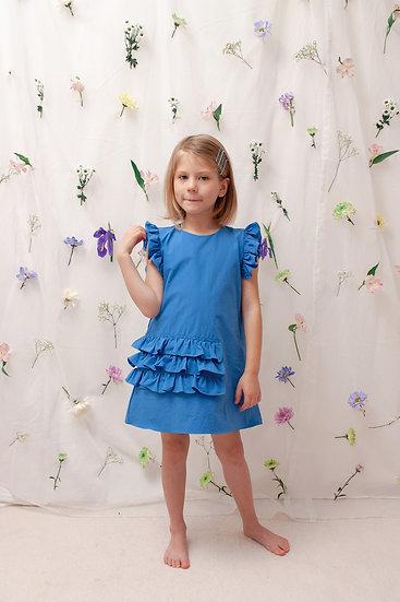 Tina Summer Dress in Blue