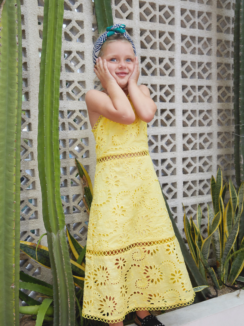 Melody Dress in Yellow